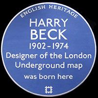 harry beck plaque